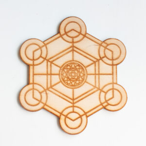 Kristalraster Hexagon Metatron 12 cm, Kristalraster met kristallen, Crystal grid, Crystal healing grid, kristalrooster, kristal raster, heilige geometrie,