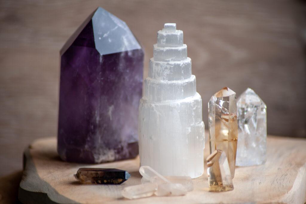 kristallen reinigen, Down to Earthstones, Satijnspaat, Seleniet