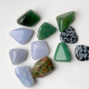Persoonlijke kristallen set voorbeeld