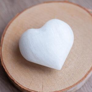 Satijnspaat hart, Seleniet hart,