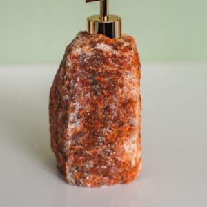 Oranje Dolomiet zeepdispenser