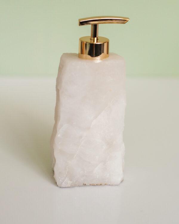 Bergkristal zeepdispenser