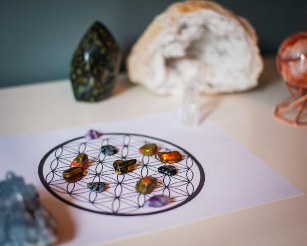 Kristalraster flower of life digitale download, crystalgrid,